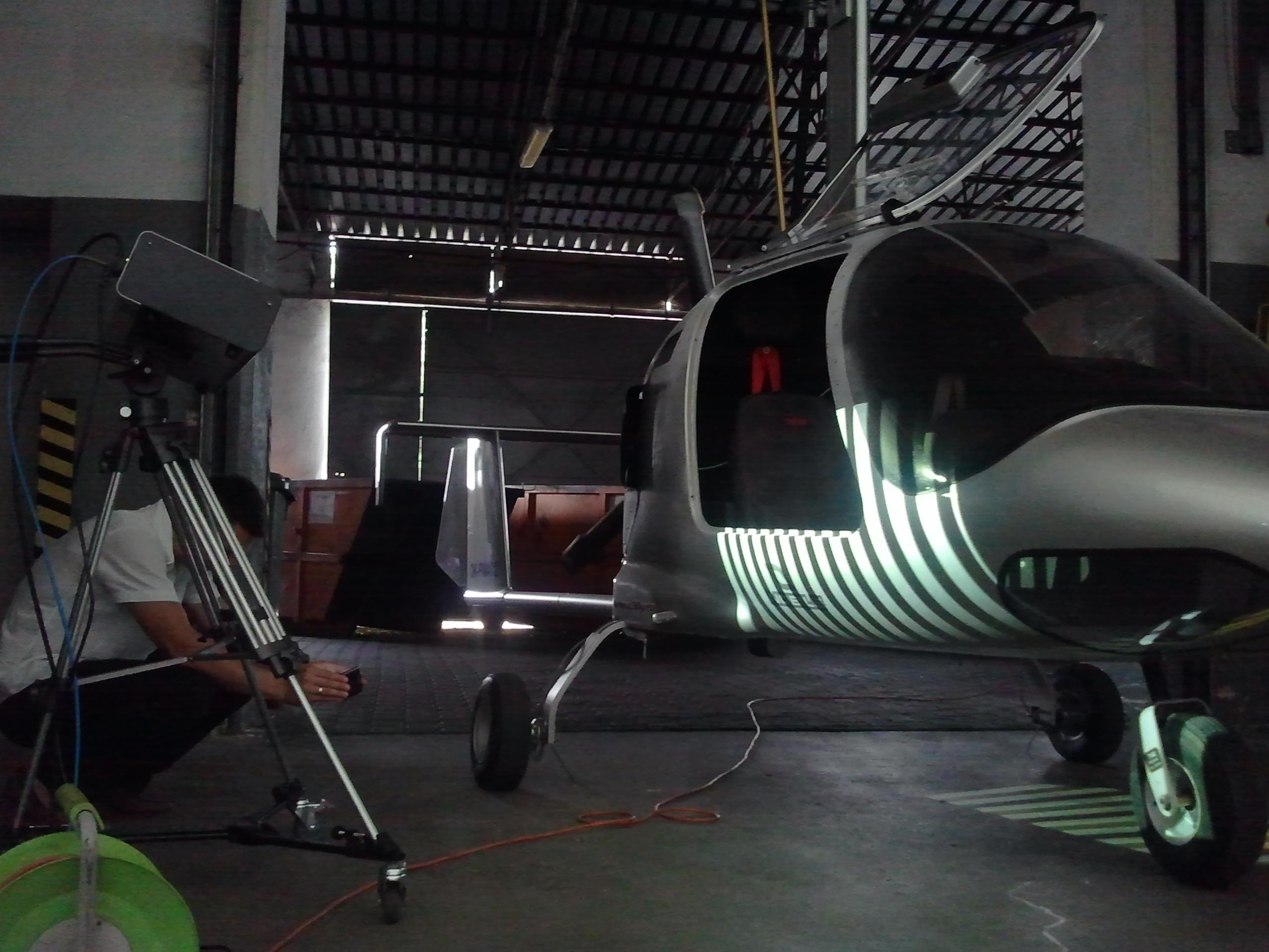 Skanowanie 3D samolotu